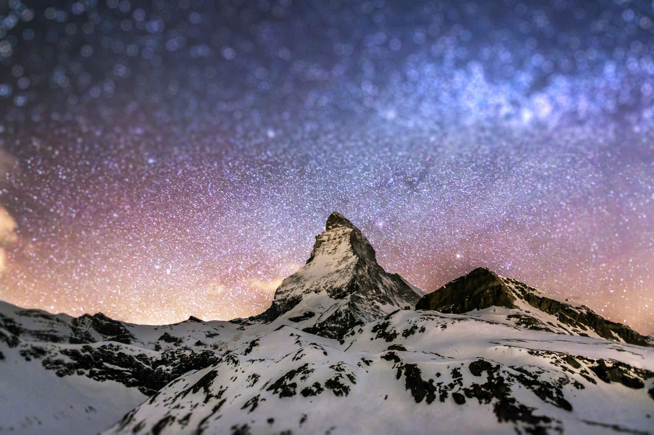 Matterhorn with unique sky